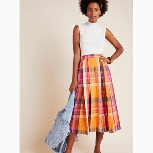 NWT Anthro Maeve Pippa Pleated MinI Skirt